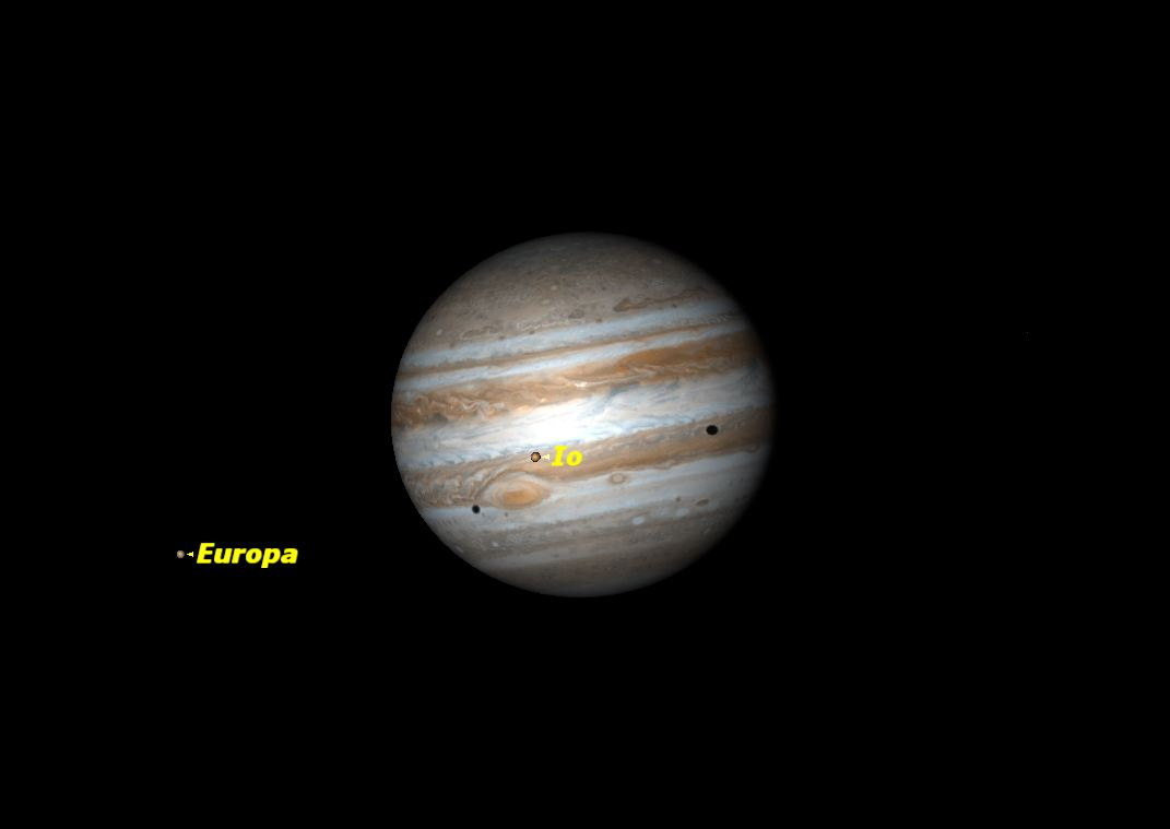 See the Moon Near Jupiter Tonight
