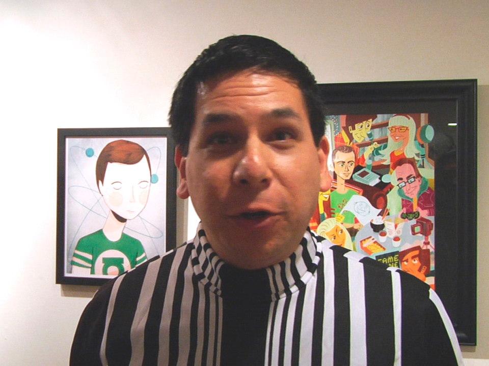 Dennis Alfrey in Sheldon Costume