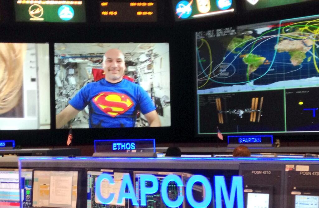 Space Station Astronaut Celebrates Halloween With Special Costume