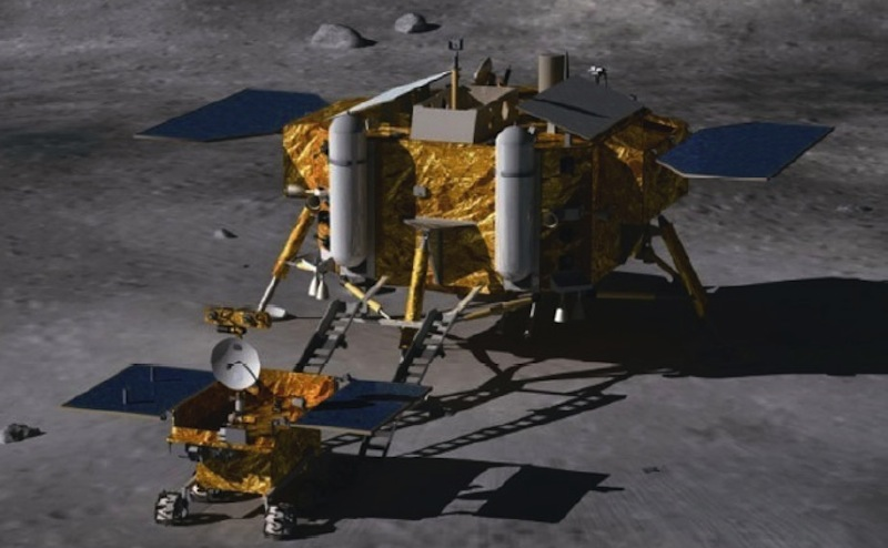 Chang'e 3 Lunar Lander and Moon Rover
