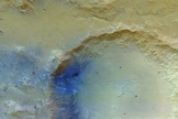The first image of the Martian surface taken by the stereo camera aboard the European Space Agency's Mars Express spacecraft.