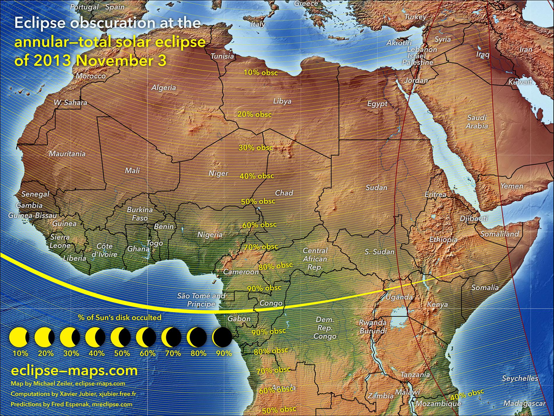 Nov. 3 Solar Eclipse: Africa Visibility