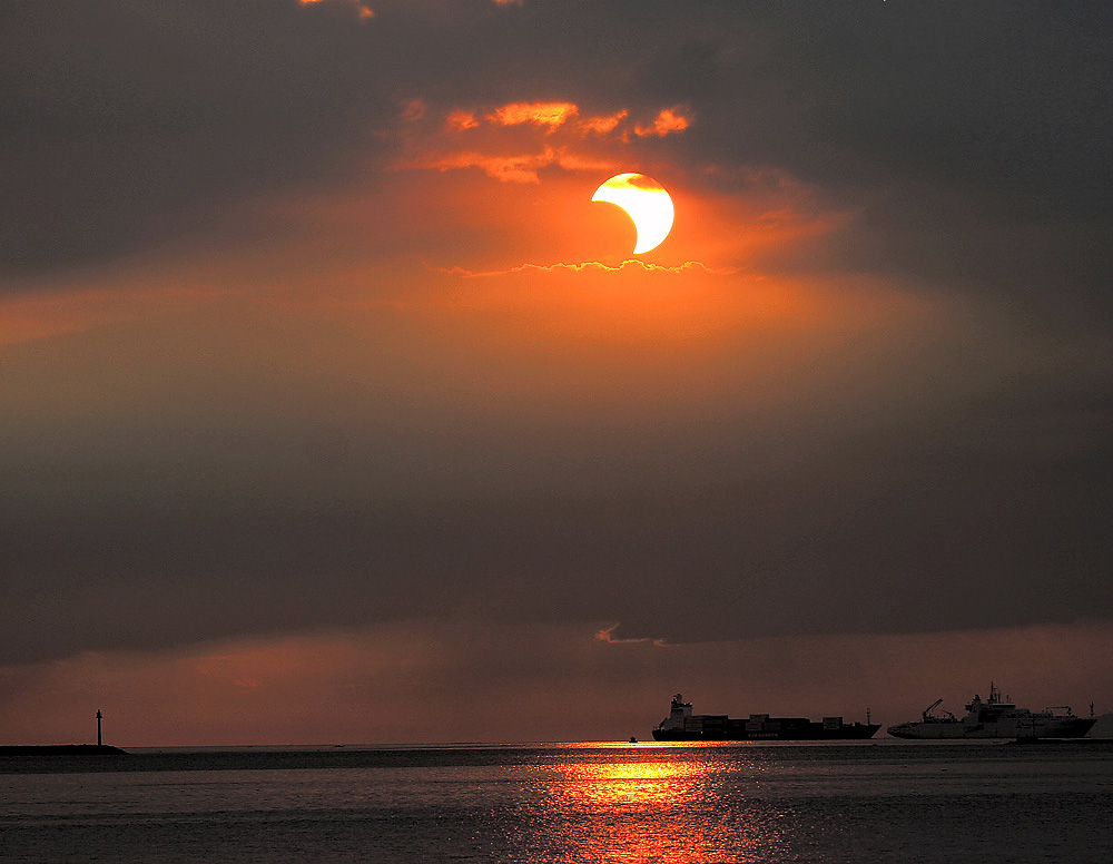 2009 Sunset Partial Eclipse