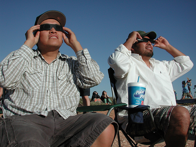 Observing the Sun with Eclipse Shades