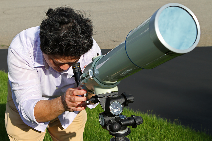 Observing with a Solar-Filtered Telescope