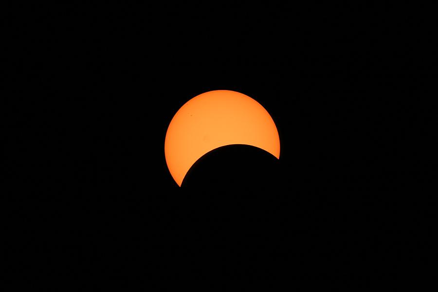 A Dwindling Solar Crescent