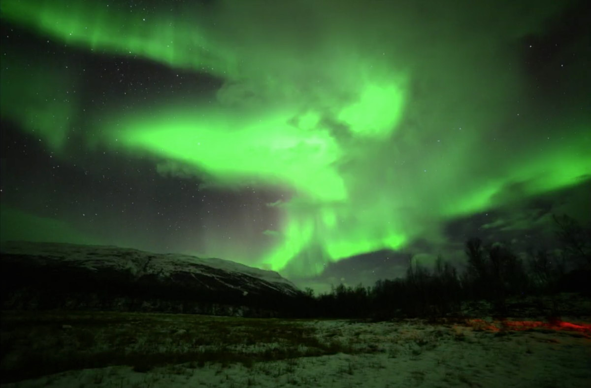 Halloween Aurora in Sweden