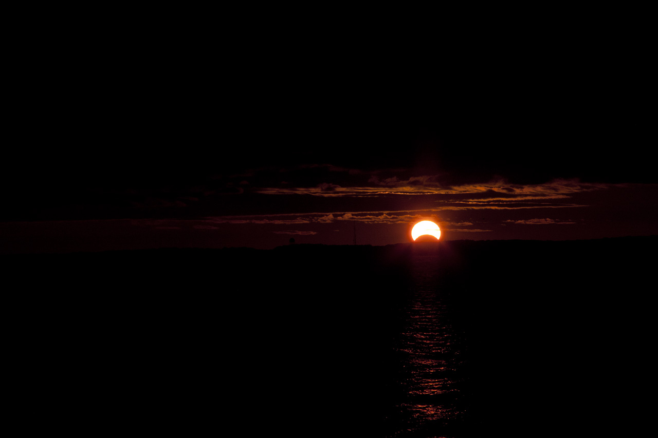 Solar Eclipse Over Chesapeake Bay: Nov. 3, 2013