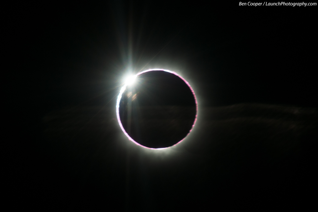 The diamond ring effect of the 2013 total solar eclipse is seen in this amazing photo by eclipse-chasing photographer Ben Cooper, who captured the image from an airplane at 43,000 feet on Nov. 3, 2013 during a rare hybrid annual/total solar eclipse.