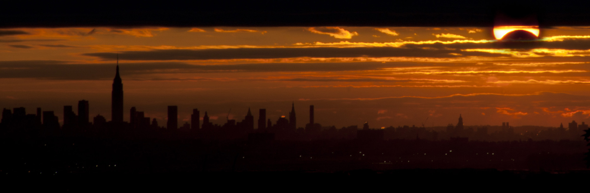 Nov. 3, 2013 Solar Eclipse Over NYC: Nick Sperling