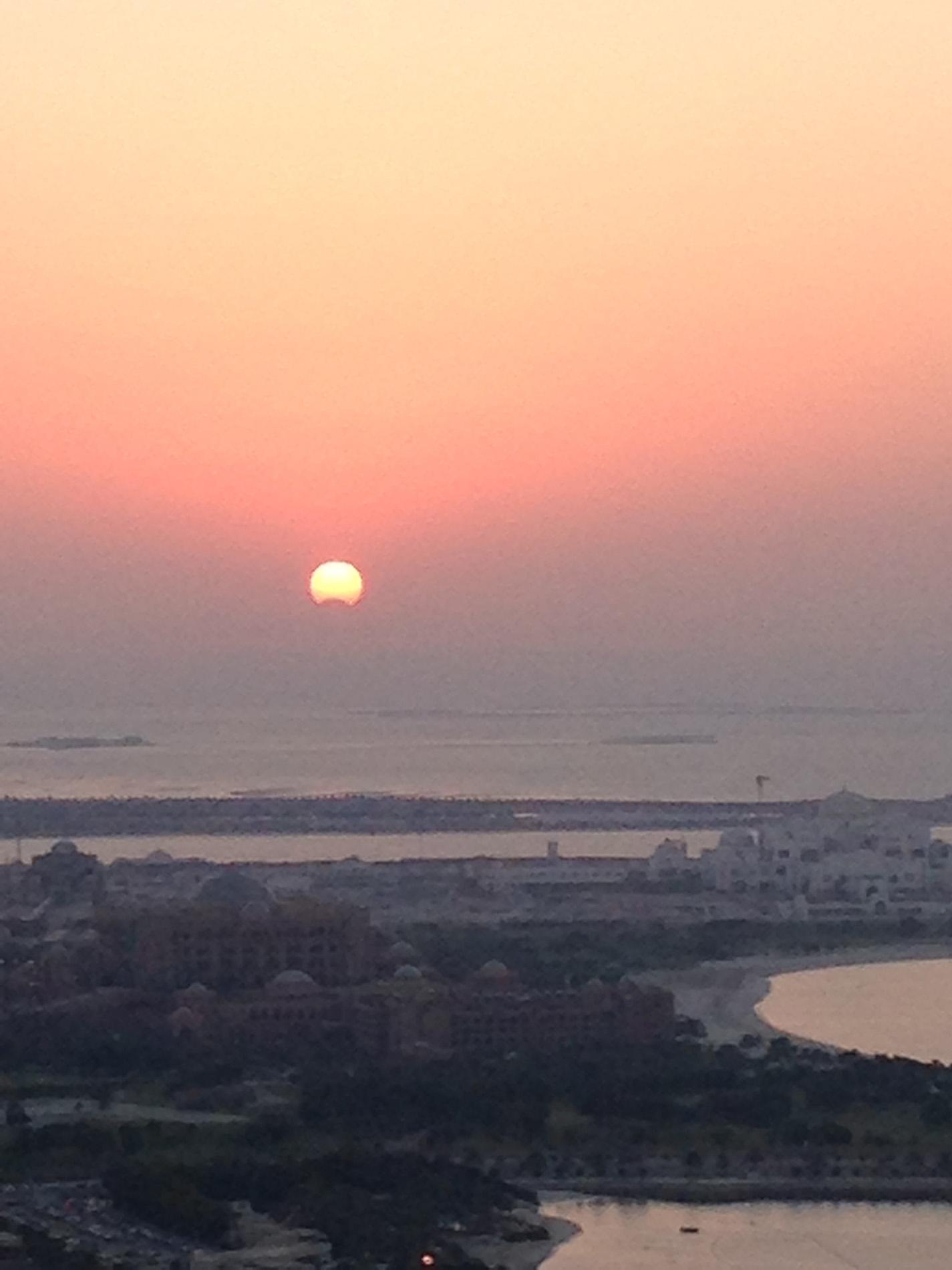 Nov. 3, 2013 Solar Eclipse: Kristi Larson in Abu Dhabi