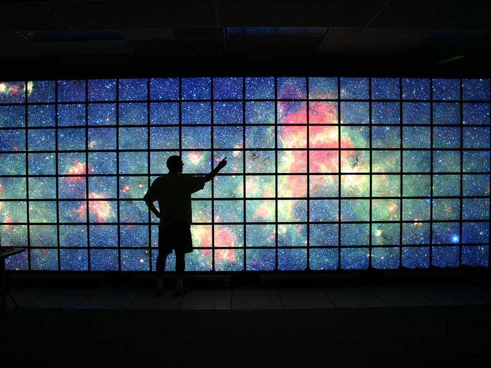 Milky Way on LCD Science Visualization Screen