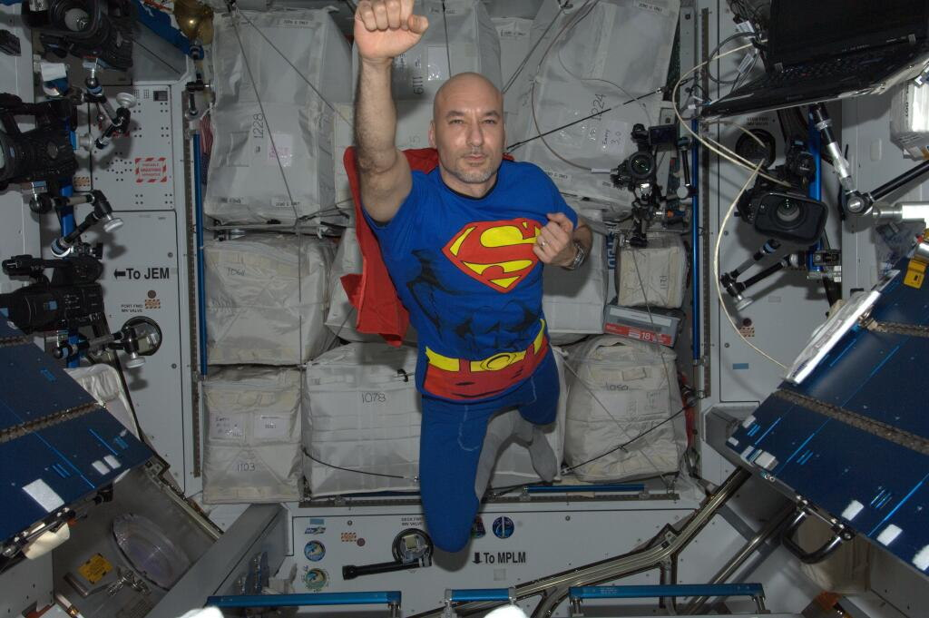 Astronaut Luca Parmitano Soars as Superman