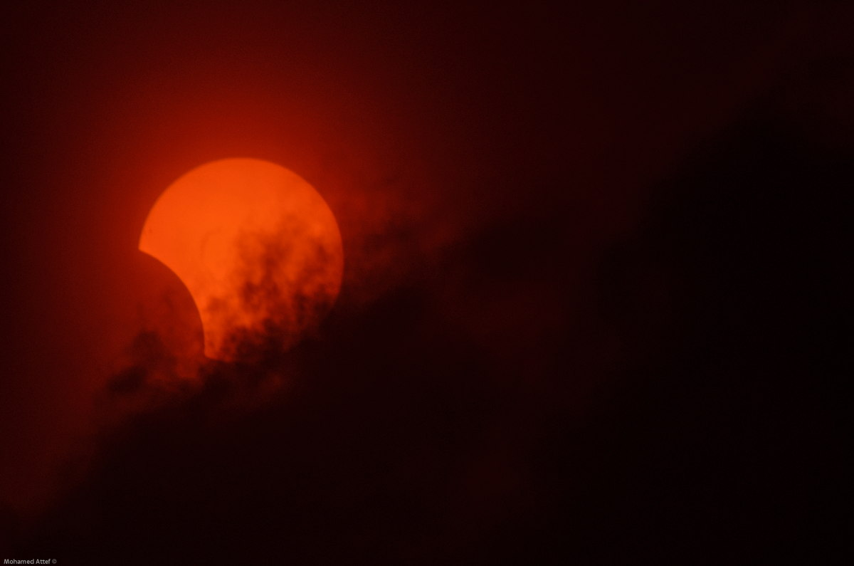Hybrid Solar Eclipse of Nov. 3, 2013, Seen in Egypt