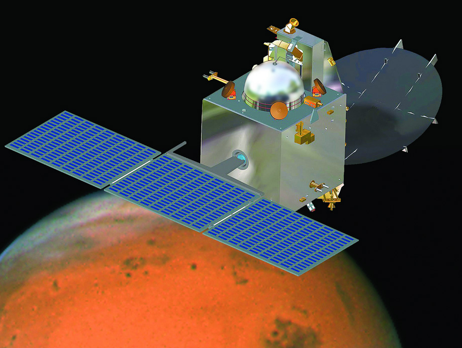 India's Mars Orbiter Mission Artwork
