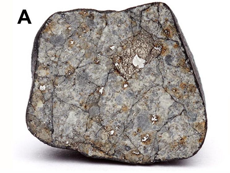 Chelyabinsk Meteorite Showing Shock Veins