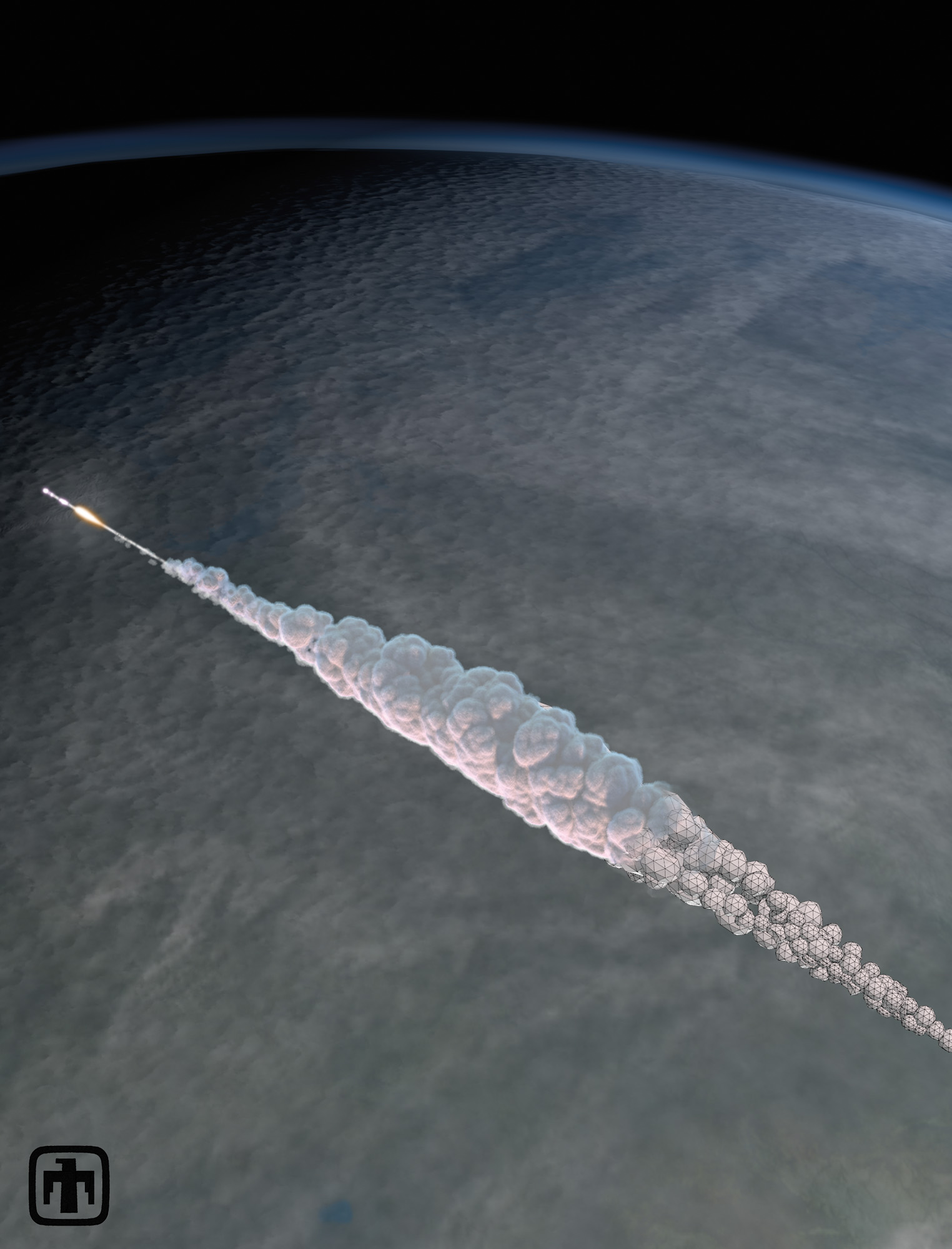 Russian Meteor Explosion: 3D Trajectory