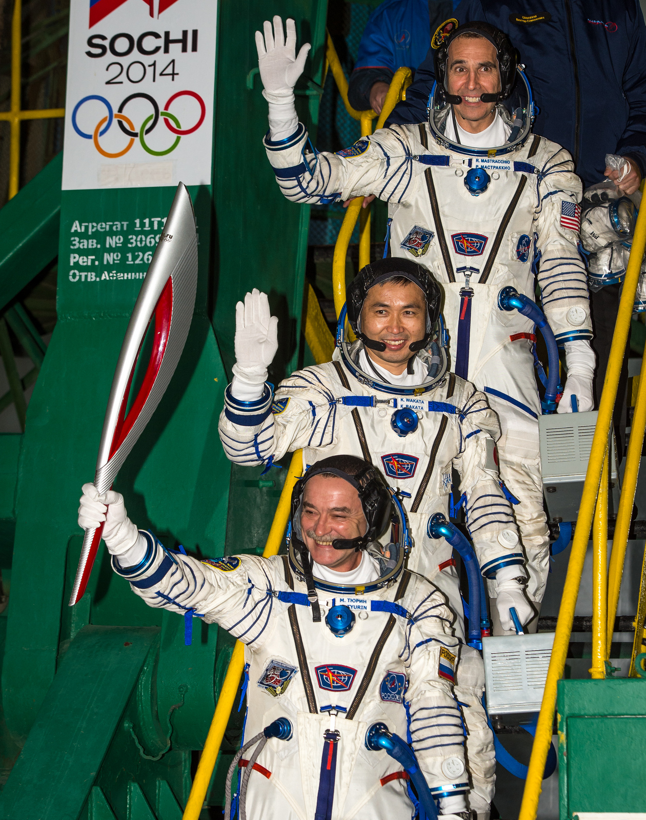 Olympic Torch, Space Station Crew Ready to Launch