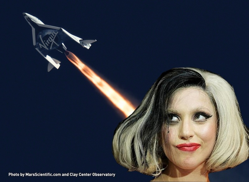 Lady Gaga in Space: Pop Star to Sing on Virgin Galactic Rocket Ride