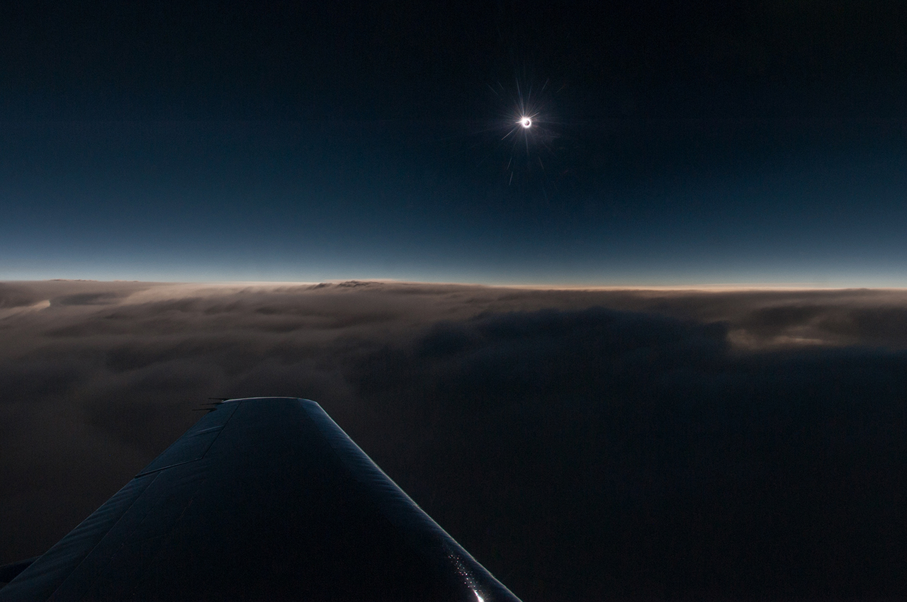 Photos: Views of Rare Solar Eclipse from 44,000 Feet