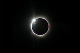 The diamond ring phase of the 2013 total solar eclipse.