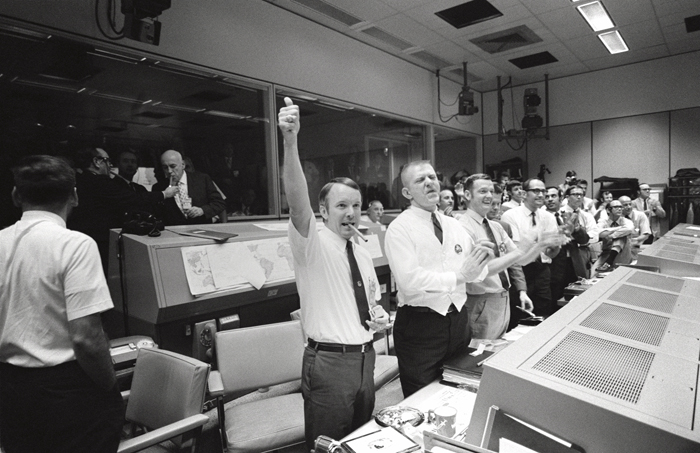 Space History Photo: Mission Control Celebrates