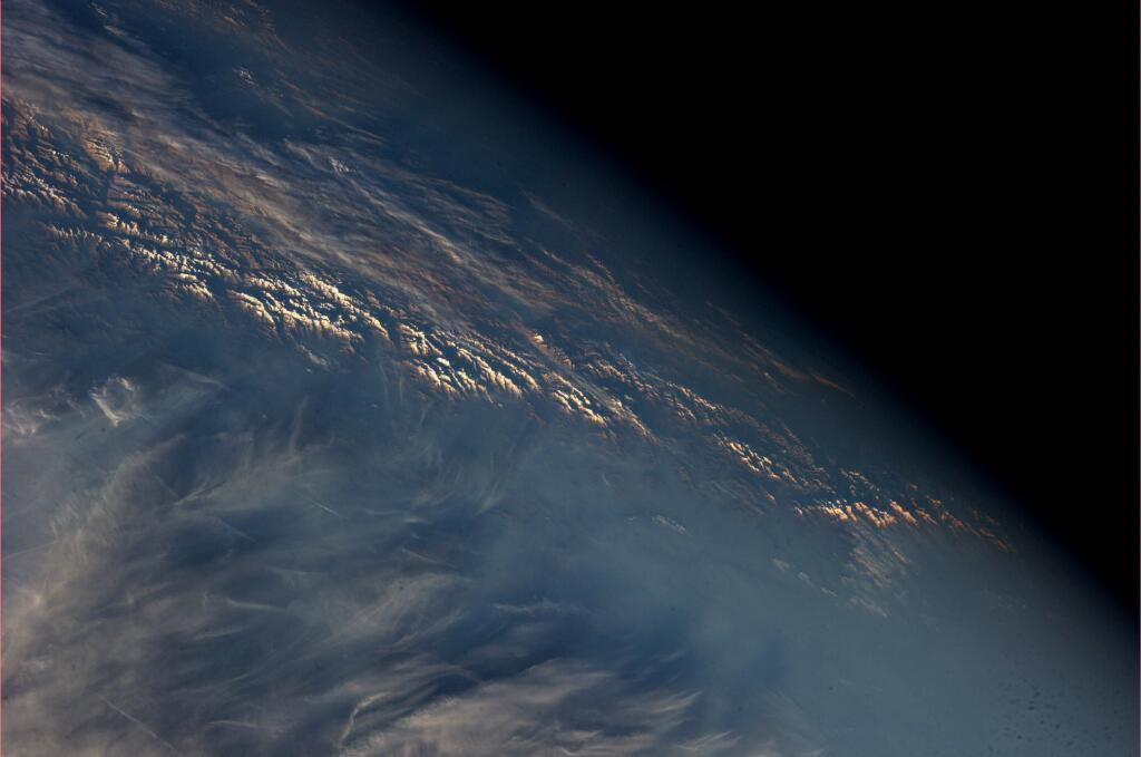 Karen Nyberg: Dusk Settles on Himalayas