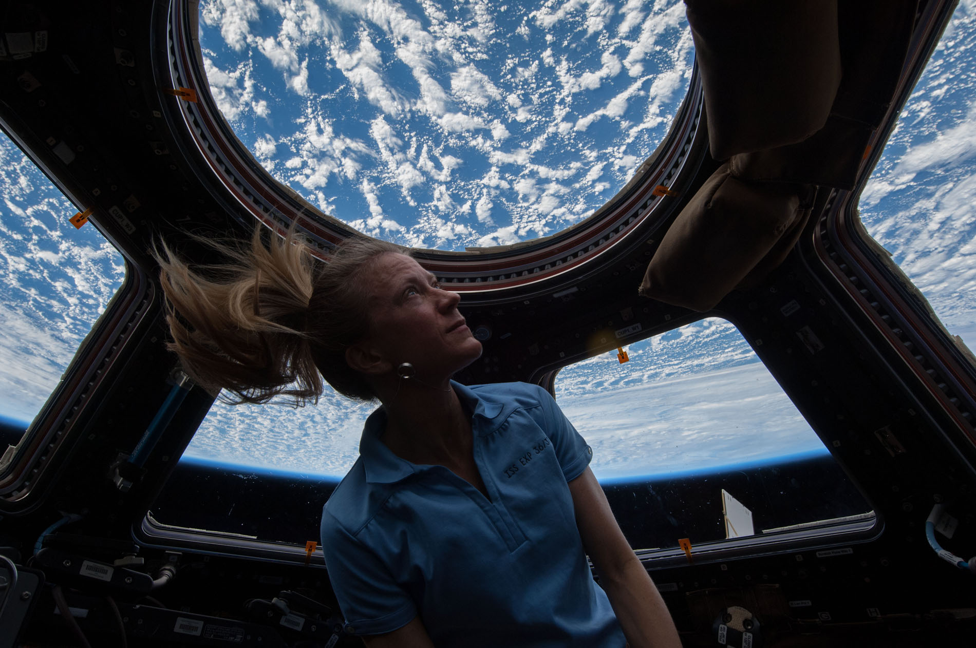 Astronaut Karen Nyberg in Space