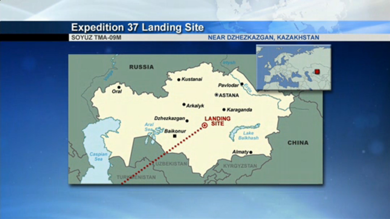 Expedition 37 Soyuz Landing Zone