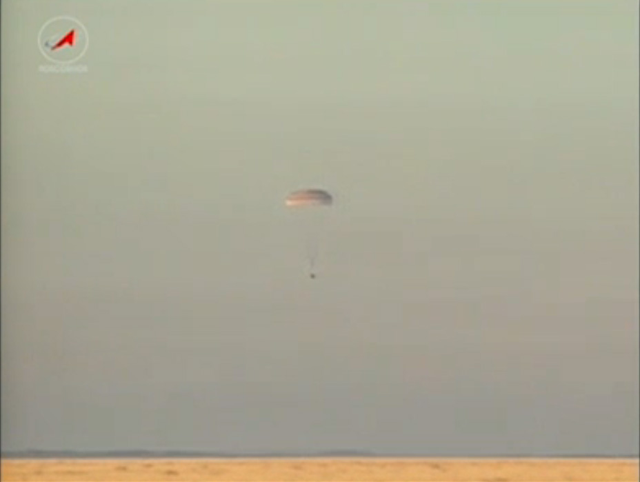 Soyuz TMA-09M Landing: Touchdown