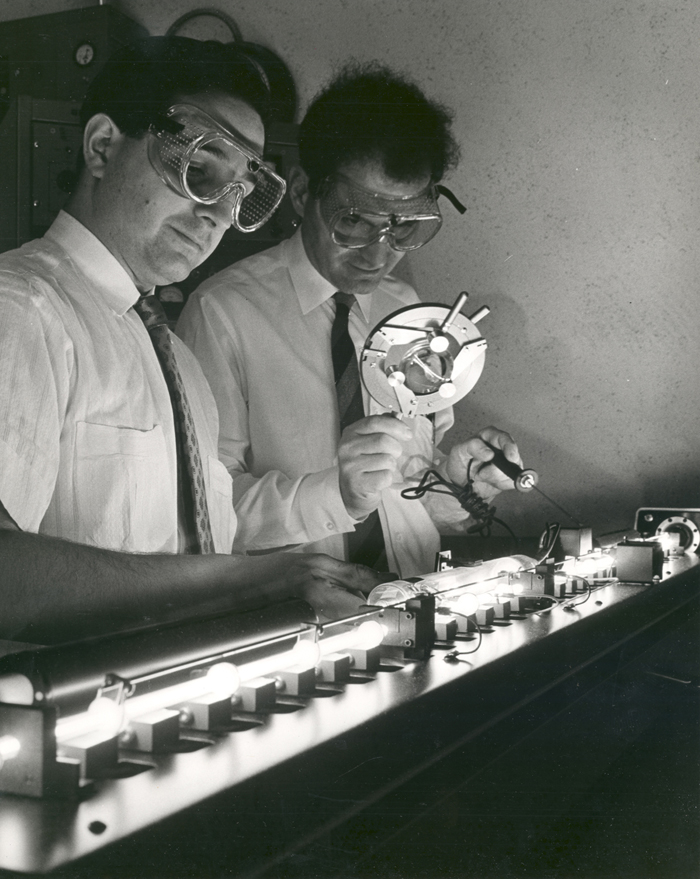 Space History Photo: Experiment Performed at the ERC's Space Optics Laboratory