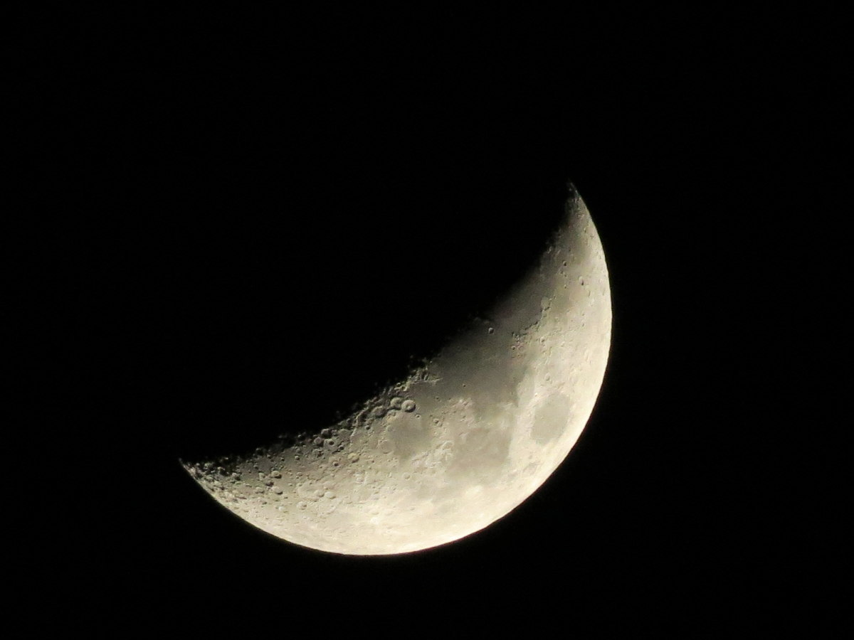 Crescent Moon from Hickory, NC