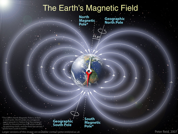Earth's magnetic shield does provide some protection from radiation.