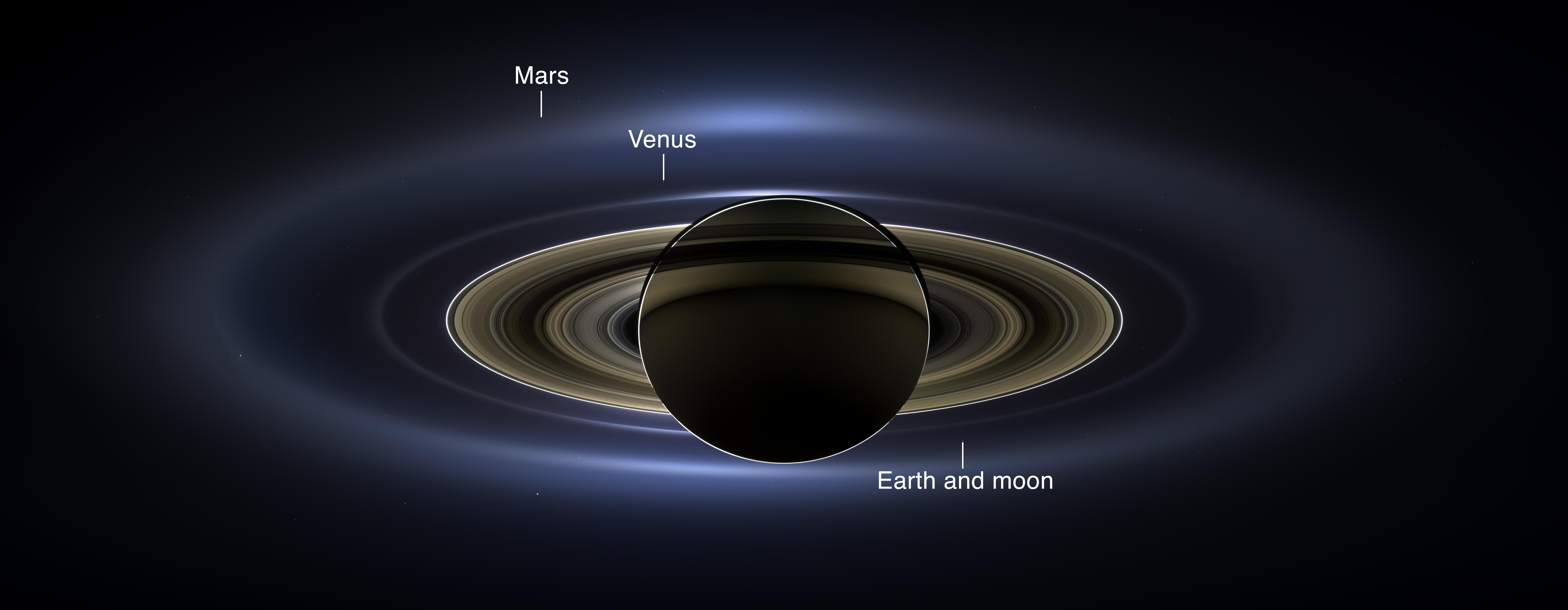 Saturn, Earth Shine in Amazing New Photo by NASA Probe