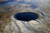 Caption: Pingaluit crater in Canada is a geologically young impact crater with a lake.