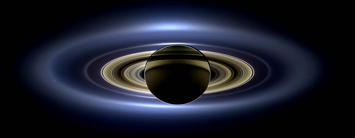 Cassini Mosaic of Saturn Enhanced
