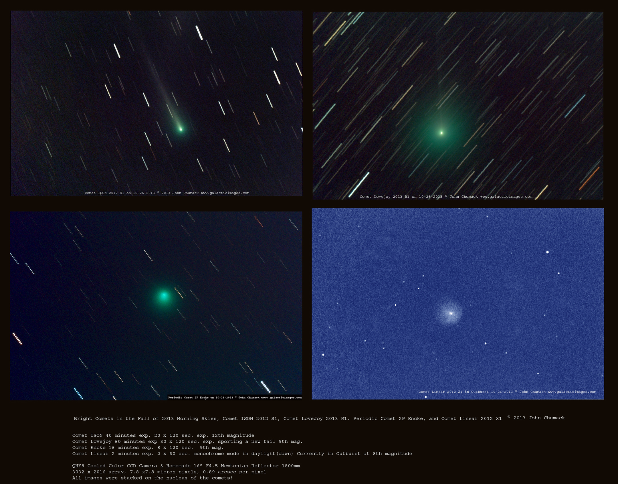 Four Bright Comets Soar in Spectacular Photo