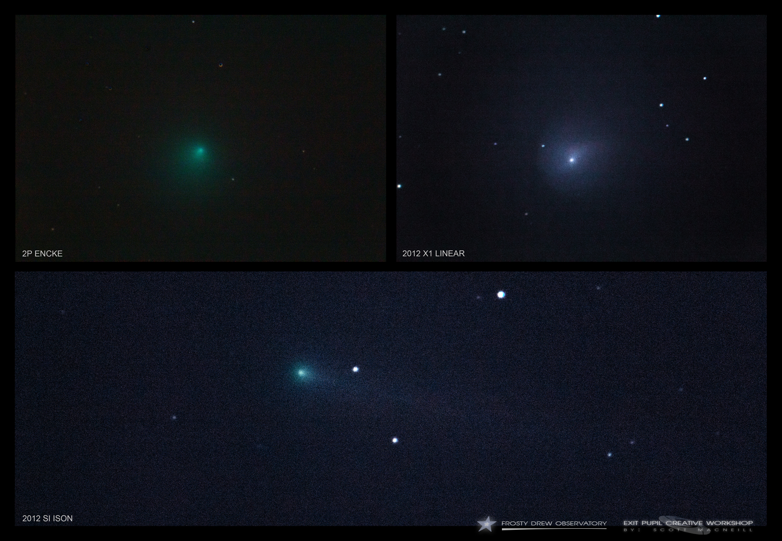 Comet Encke, Comet LINEAR, and Comet ISON by Scott MacNeill