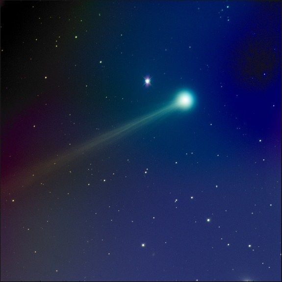 Astrophotographer Mike Hankey sent SPACE.com this 60-second x RGB composite image of Comet ISON taken on Nov. 14, 2013.