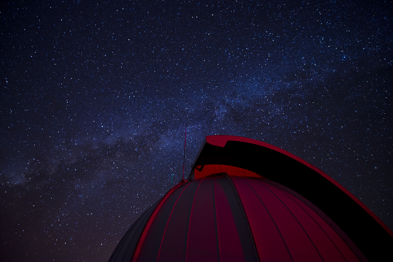 Milky Way Over Space Surveillance Refractive Telescope Housing