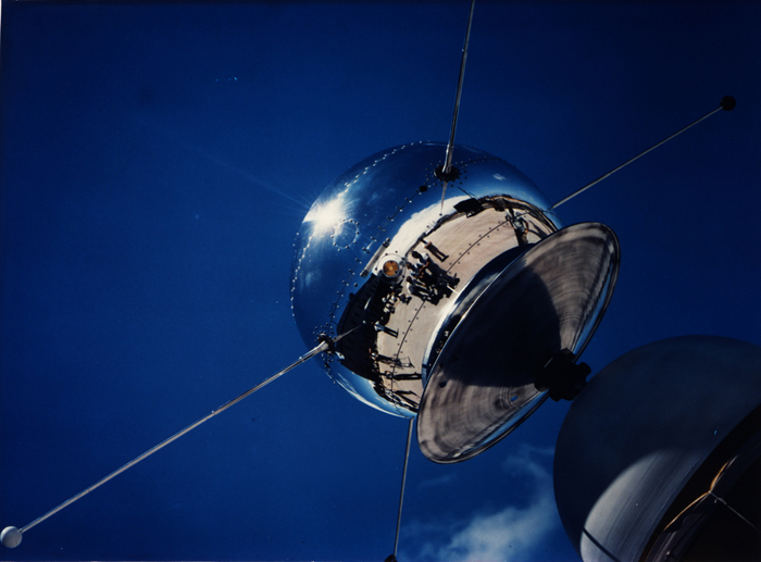 Space History Photo: Vanguard Satellite SLV-2 Being Examined at Cape Canaveral