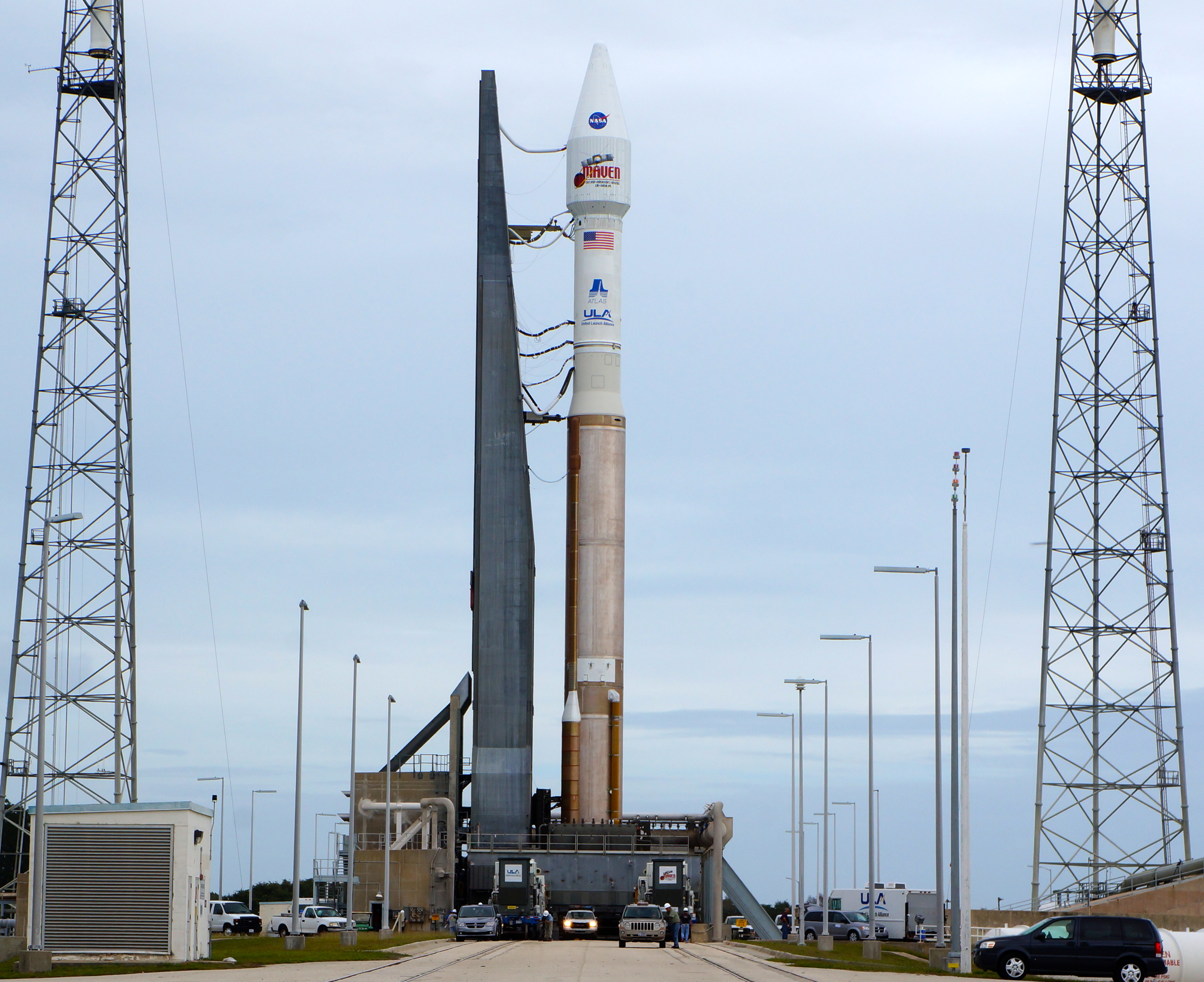 Atlas 5 Rocket and MAVEN on Launch Pad