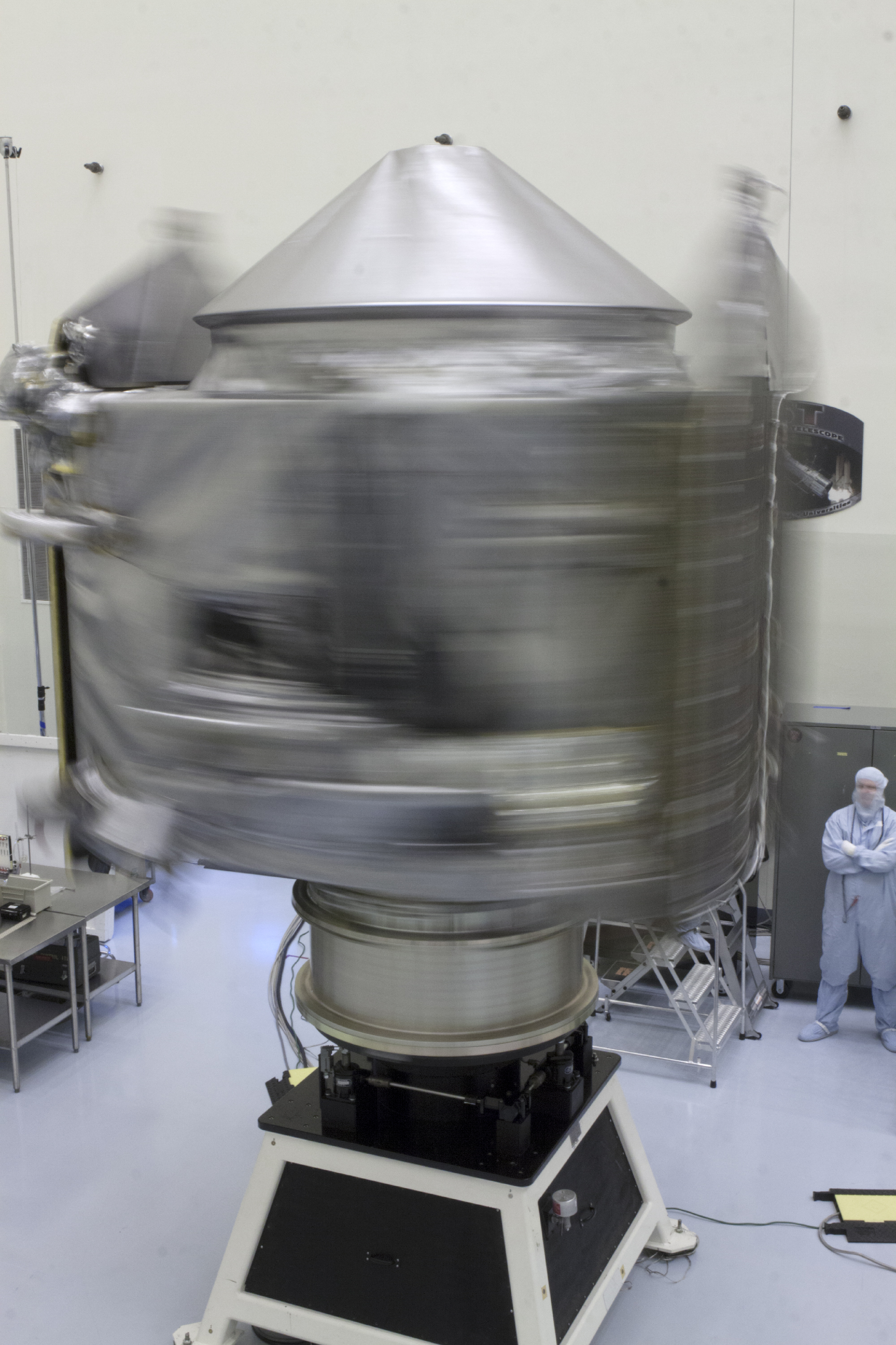 Technicians Perform MAVEN Spin Test