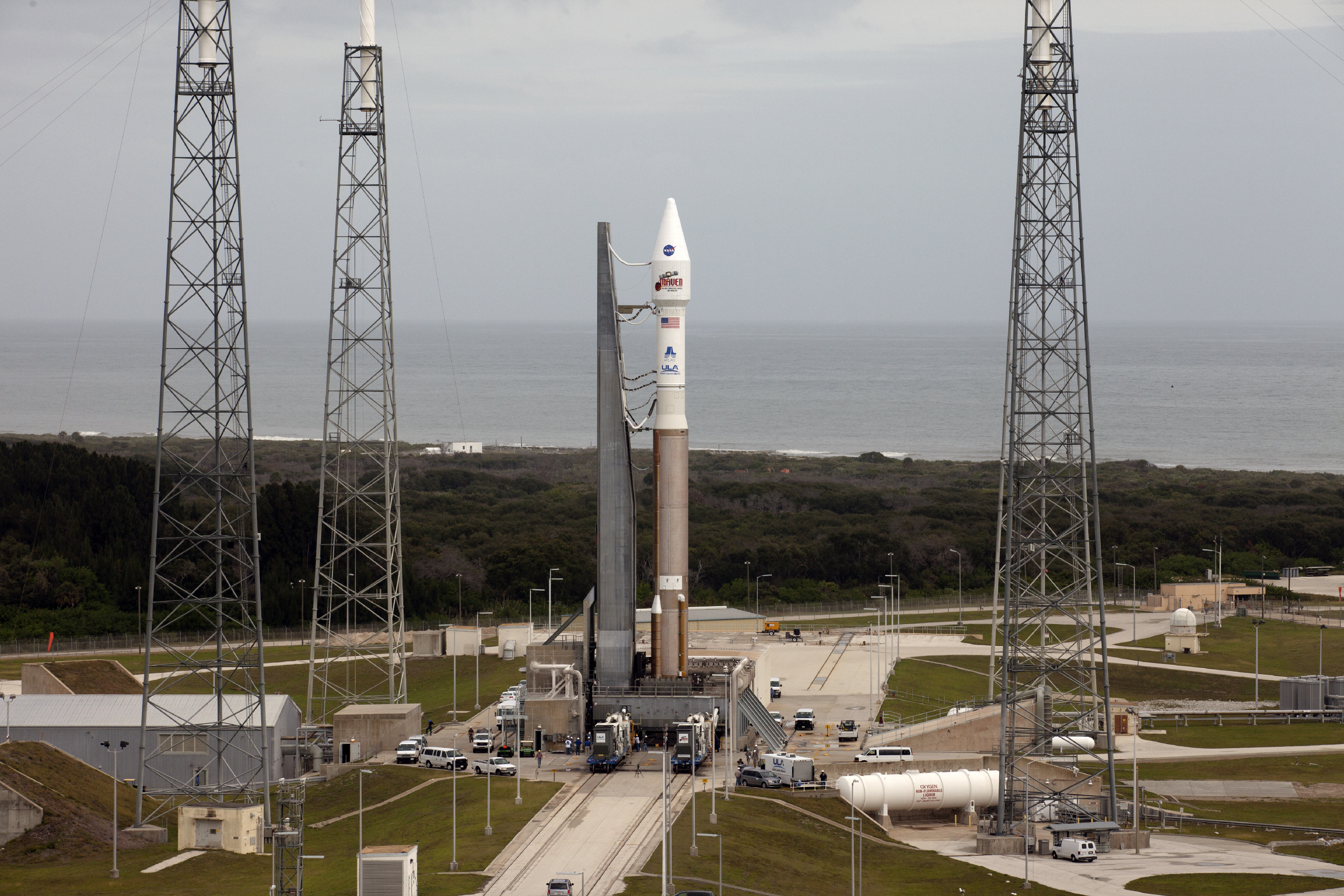 NASA MAVEN Probe at Launch Pad