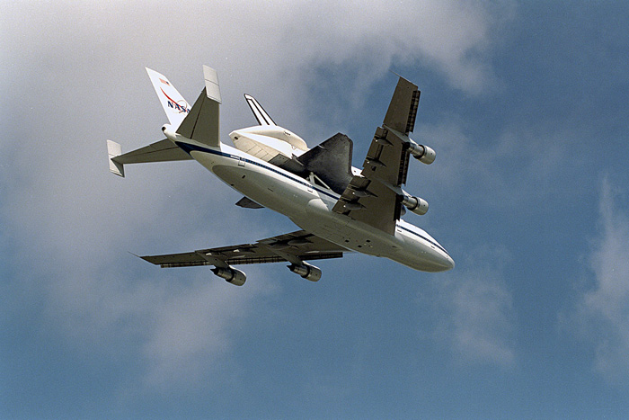 Space History Photo: Endeavour on Shuttle Carrier Aircraft