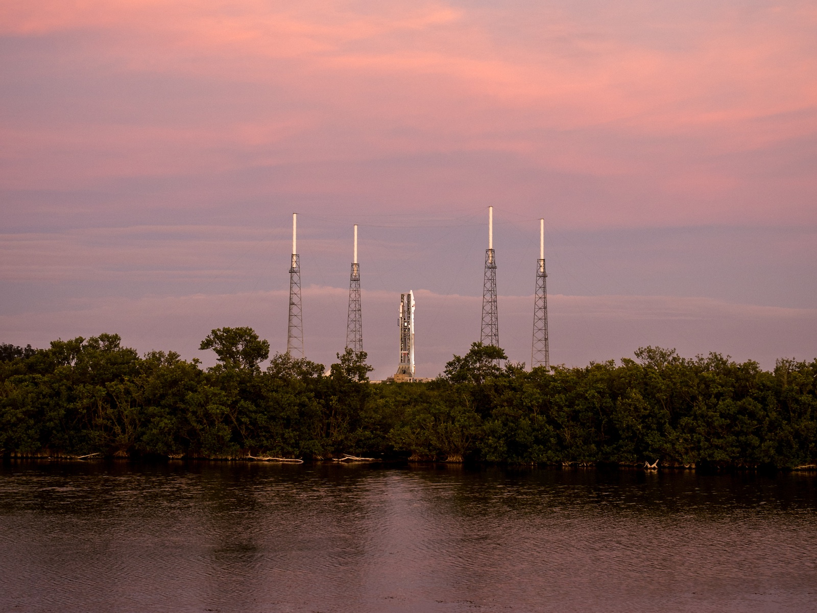 Atlas V Rocket and MAVEN at Launch Pad