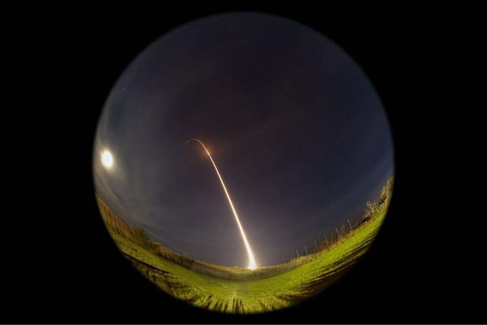 Minotaur 1 Rocket Streak: Nov. 19, 2013