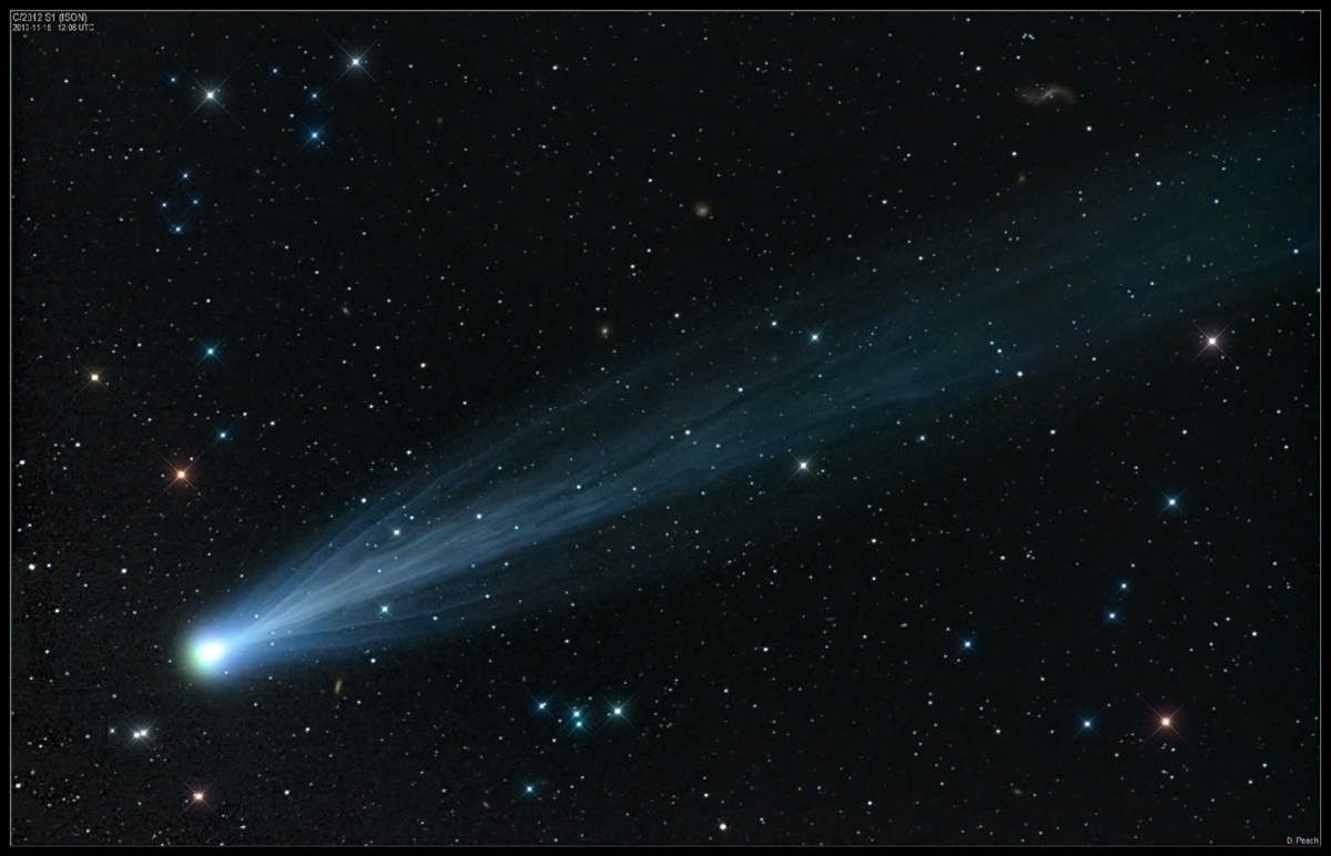 Comet ISON Imaged by Damian Peach