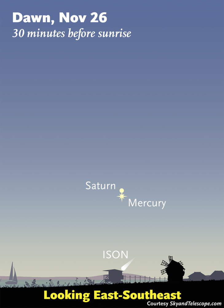 Comet ISON Nov. 26, 2013, Sky Map