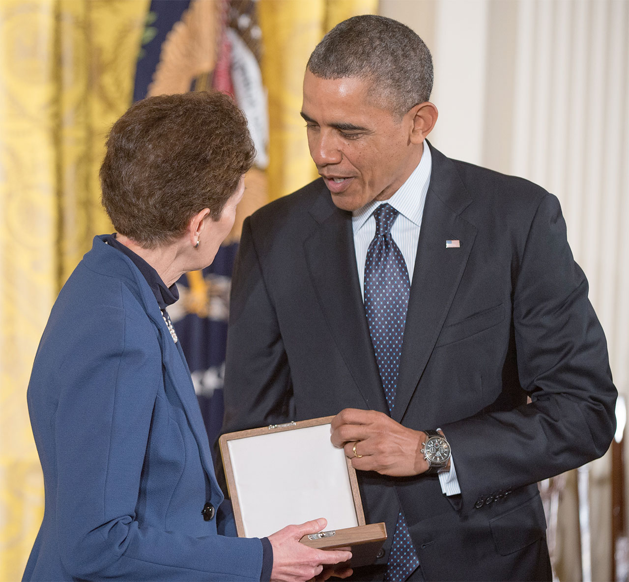 Tam O'Shaughnessy Accepts Medal of Freedom on Behalf of Ride